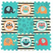 SUN TA TOYS Pěnové puzzle Sovičky a sloni (29x29)