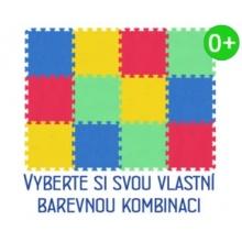 MALÝ GÉNIUS Pěnový koberec MAXI 12 silný 0+ (mix-4)