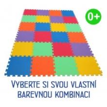 MALÝ GÉNIUS Pěnový koberec MAXI 24 silný 0+ (mix-6)