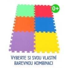 MALÝ GÉNIUS Pěnový koberec MAXI 6 silný 0+ (mix-6)
