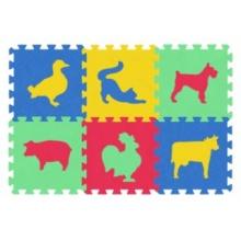 MALÝ GÉNIUS Pěnové puzzle MAXI 6 Zvířata domácí 8mm (mix-4)
