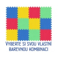 MALÝ GÉNIUS Pěnový koberec MAXI 12, 8mm (mix-4)