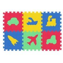 MALÝ GÉNIUS Pěnové puzzle MAXI 6 Dopravní prostředky 8mm (mix-4)