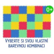 MALÝ GÉNIUS Pěnový koberec MAXI 24 silný 0+ (mix-4)
