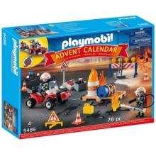 PLAYMOBIL Adventní kalendář Hasiči 9486