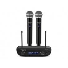 Mikrofon bezdrátový VONYX WM82, digitální UHF, 2 kanálový, 2x ruční mikrofon