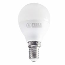 MG140340-7 Tesla - LED žárovka miniglobe BULB, E14, 3W, 230V, 250lm, 25 000h, 4000K denní bílá, 180°