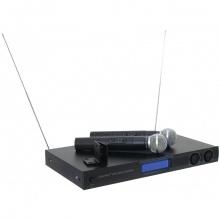 Omnitronic VHF-450 SET 2, bezdrátový mikrofonní set VHF