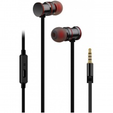 AV:link sluchátka In-Ear Magnetic, hands free, černá metalíza