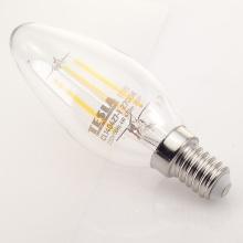 CL140440-7 Tesla - LED žárovka FILAMENT RETRO svíčka E14, 4W, 230V, 470lm, 25 000h, 4000K denní bílá, 360°čirá