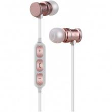 AV:link EMBT1-RSE magnetická Bluetooth sluchátka do uší, růžová