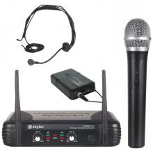 Skytec VHF mikrofonní set 2 kanálový, 1x ruční mikrofon, 1x náhlavní mikrofon