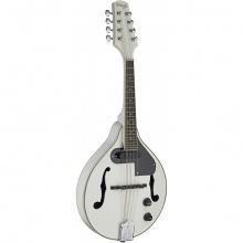 Stagg M50 E WH, mandolína bluegrassová elektroakustická, bílá