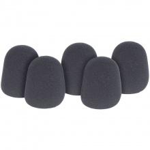QTX kryty mikrofonní černé, sada 5 ks
