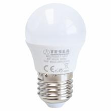 MG270440-1 Tesla - LED žárovka miniglobe BULB E27, 4W, 230V, 320lm, 25 000h, 4000K denní bílá, 180°