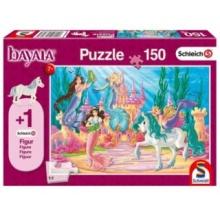 SCHMIDT Puzzle Schleich Mořské panny u zámku 150 dílků + figurka Schleich