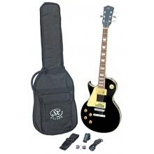SX SE3 Left Handed Electric Guitar Kit Black
