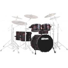 DDRUM Hybrid Kit 6pc Acoustic/Trigger Blk/Red