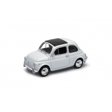 Welly - Fiat NUova 500 model 1:24 bílý
