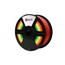 Tisková struna (filament) C-TECH, PLA, 1,75mm, 1kg, duha