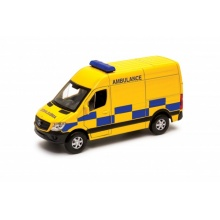 Welly Mercedes-Benz Sprinter 1:34 ambulance žlutá