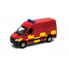 Welly Mercedes-Benz Sprinter Panel Van 1:34 fire červené