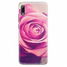 Plastový kryt  - Pink Rose - Huawei Y6 2019