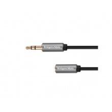 Kabel 1x JACK 3.5 mm konektor - 1x JACK 3.5 mm zdířka 3m KRUGER & MATZ