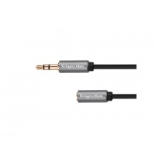 Kabel 1x JACK 3.5 mm konektor - 1x JACK 3.5 mm zdířka 1m KRUGER & MATZ