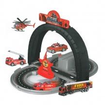 Dráha rozložitelná hasiči s kovovými auty (od 3 let)