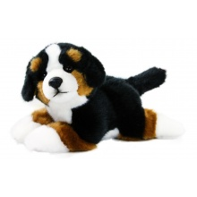 Plyšový bernský salašnický pes ležící, 23 cm (od 0 let)