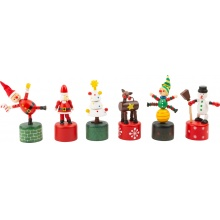 Small Foot Vánoční tančící figurka 1 ks Skřítek zelený