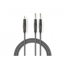 Kabel 2x JACK 6.35 mm konektor - 1x JACK 3.5 mm konektor 3m NEDIS