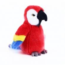 Plyšový papoušek červený, 19 cm (od 0 let)