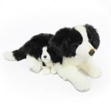 Plyšový pes border kolie s mládětem, 45 cm (od 0 let)