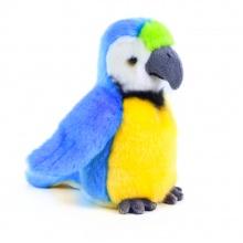 plyšový papoušek modrý, 18 cm (od 0 let)