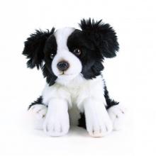 Plyšový pes Border kolie sedící, 28 cm (od 0 let)