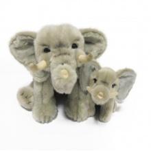 Plyšový slon sedící s mládětem, 27 cm (od 0 let)
