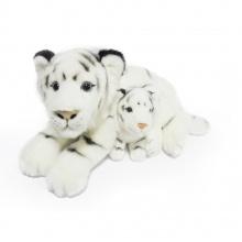 plyšový tygr bílý 38 cm s mládětem 13 cm (od 0 let)