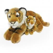 Plyšový tygr ležící s mládětem, 37 cm (od 0 let)
