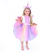 Dětský kostým jednorožec s čelenkou a křídly (M) (od 6 let)