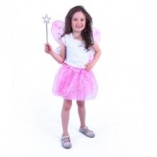 Kostým tutu sukně růžový motýl s hůlkou a křídly (od 3 let)