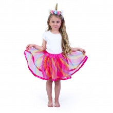 Dětský kostým tutu sukně s čelenkou jednorožec (od 3 let)
