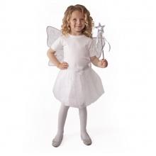 Kostým tutu sukně bílý motýl s křídly a hůlkou (od 3 let)
