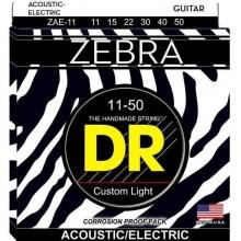 DR Strings Zebra A/E Medium Lite Set 11-50