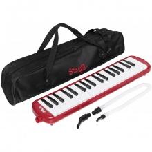 Stagg MELOSTA37 RD, klávesová harmonika, červená