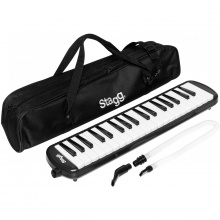 Stagg MELOSTA37 BK, klávesová harmonika, černá
