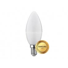 Žárovka LED E14 6W C37 bílá teplá Geti, SAMSUNG čip