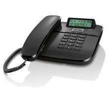 GIGASET-DA611-BLACK Gigaset - standardní telefon s displejem, CLIP, 10 kláves rychlé volby, handsfree, barva černá