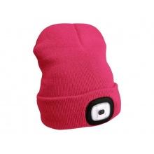 Čepice s čelovkou EXTOL LIGHT EX43193 nabíjecí, růžová
